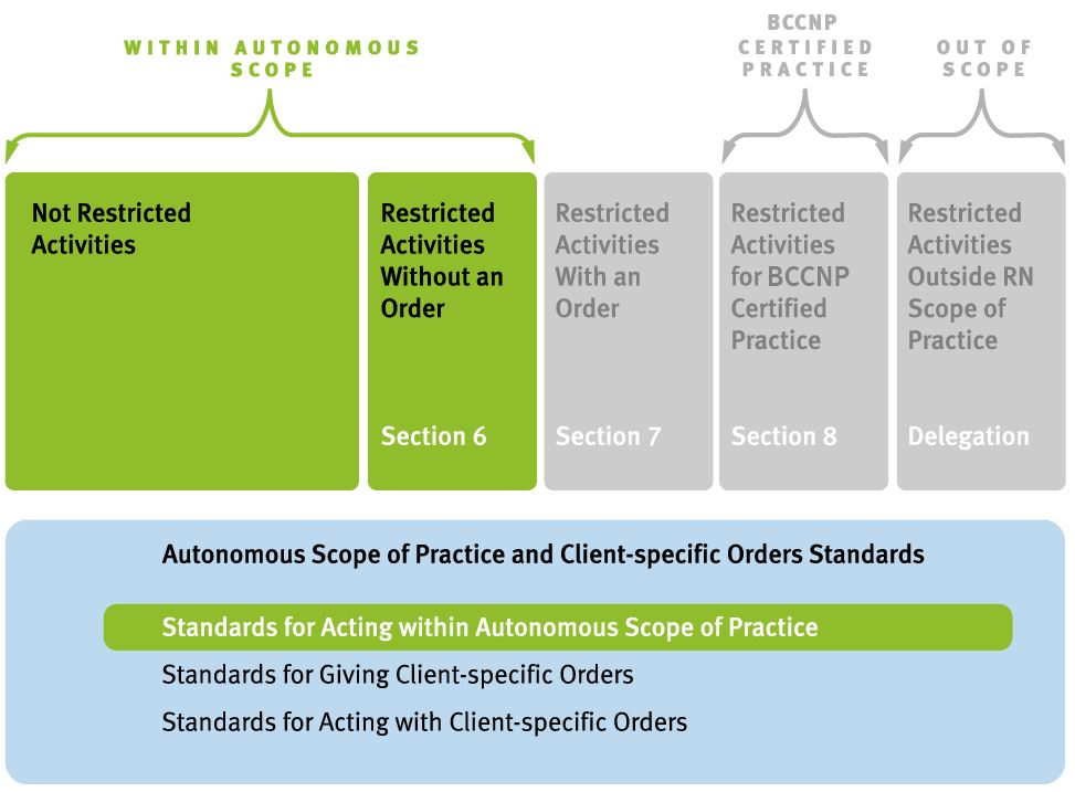 Acting with autonomous scope of practice: RN